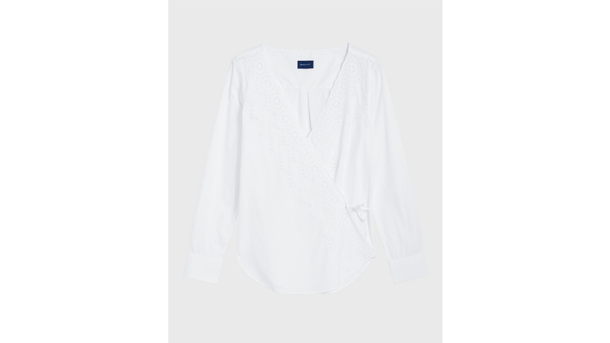 Broderie Anglaise Wrap Blouse