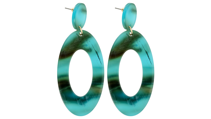 Ohrstecker - Marbled Aqua