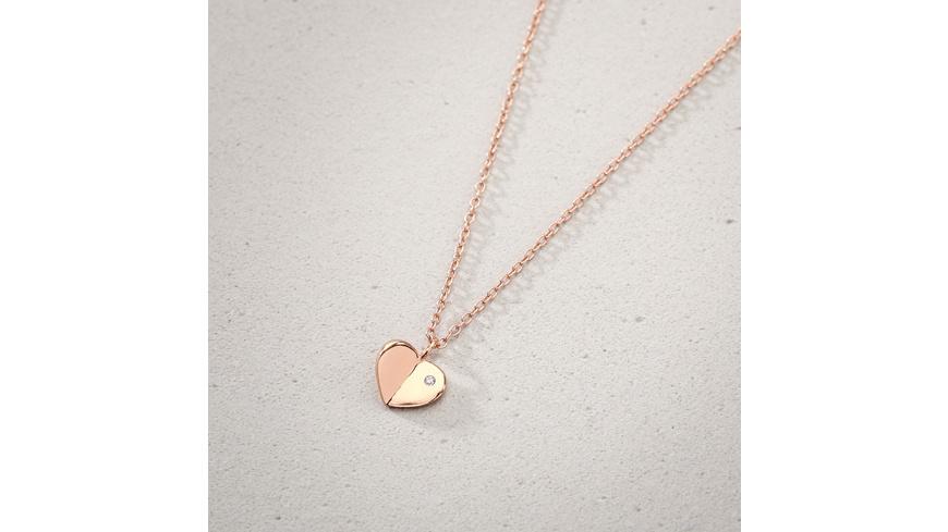 Kette - Folded Heart