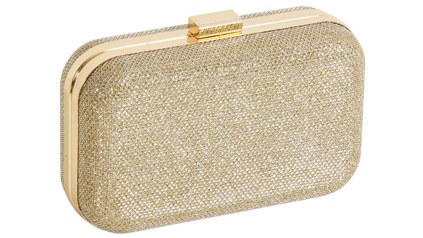 Clutch Box - Gold Glitter