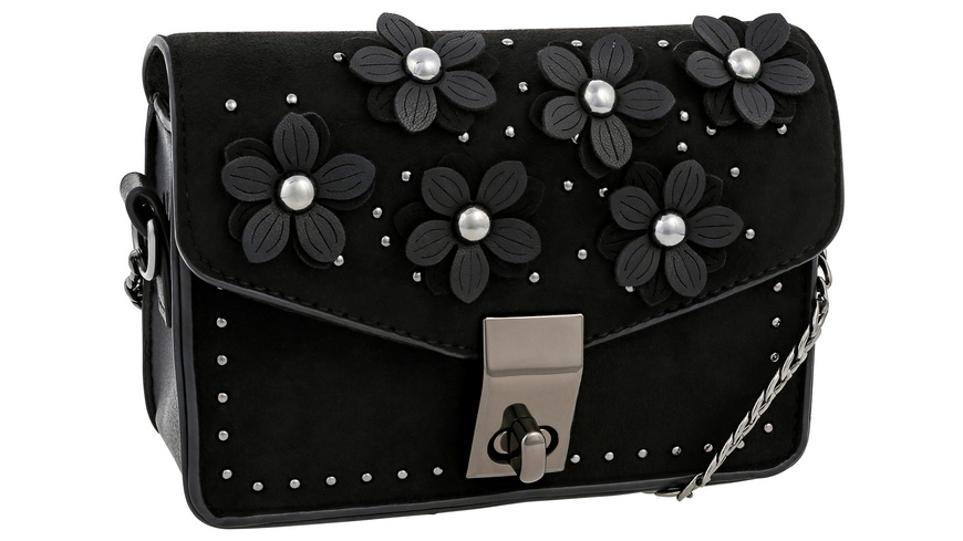 Handtasche - Black Flowers