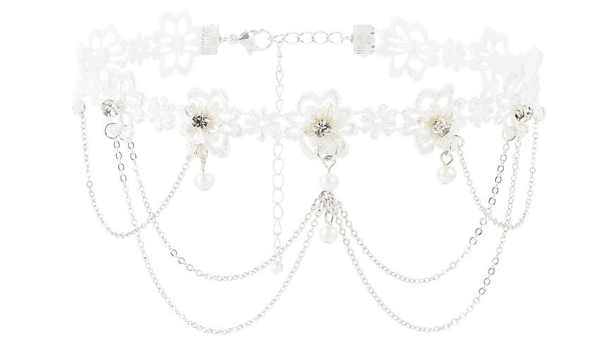 Choker - Lace Flowers