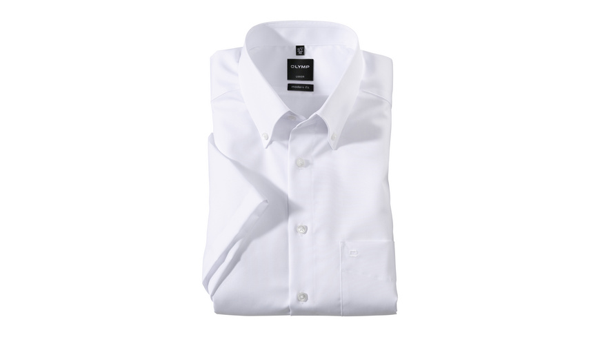 OLYMP Luxor Halbarmhemd, modern fit, Button-down