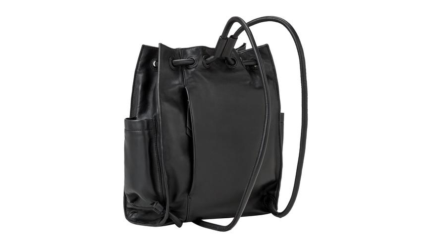 Tasche Drawstring Backpack M - Rucksack aus Lammleder