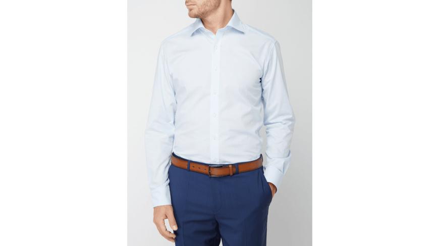 Modern Fit Hemd mit New-Kent-Kragen - bügelfrei