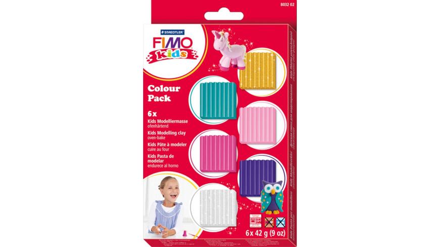 STAEDTLER FIMO kids - 6er-Colour-Pack ''Girlie'' (6x42 g)