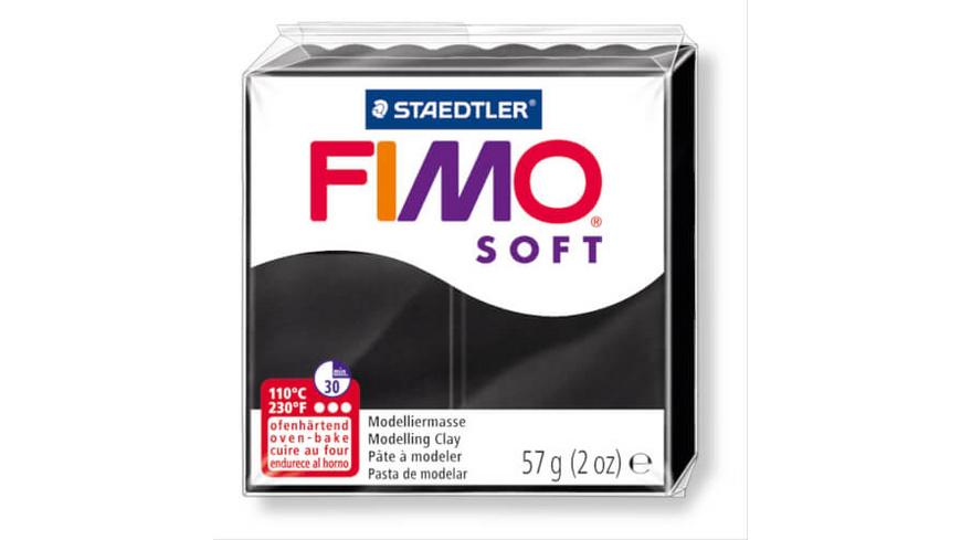 STAEDTLER FIMO soft 8020 - Materialpack á 57 g, schwarz