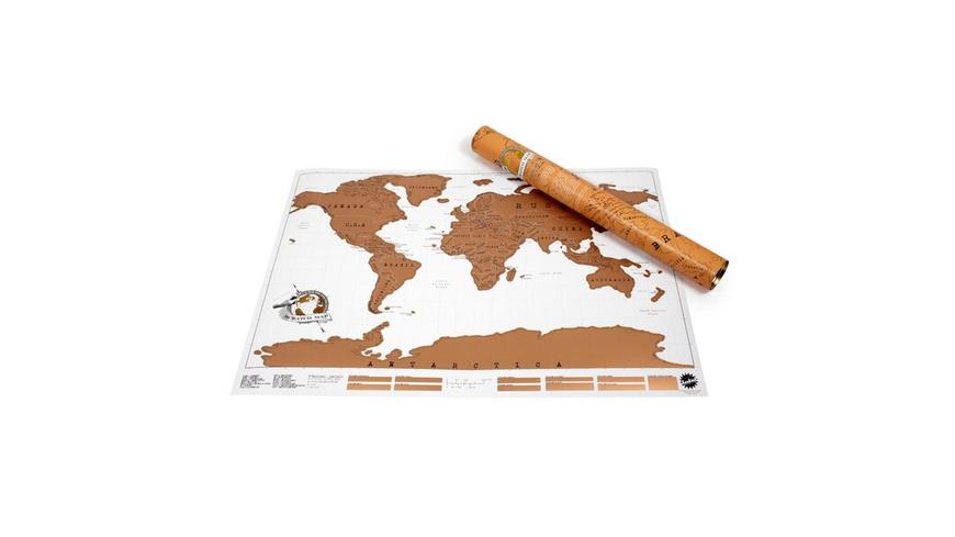 Luckies Rubbel-Weltkarte Scratch Map Weiß/Gold, Planokarte