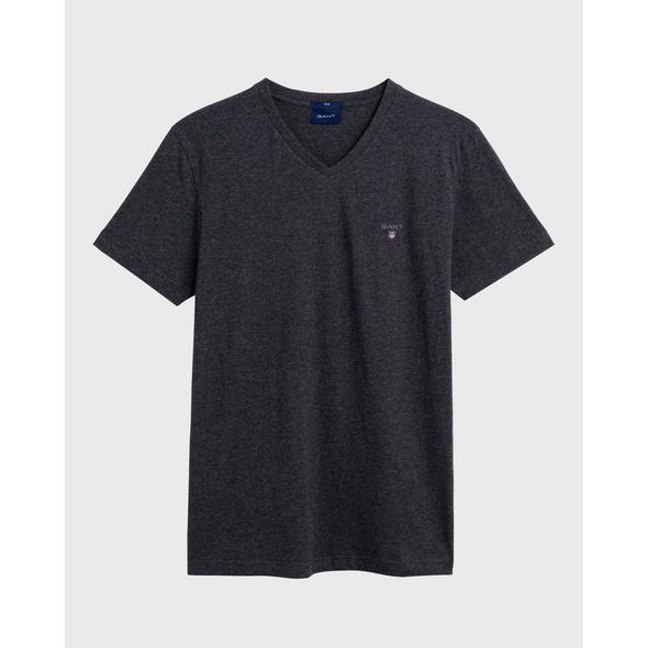 Figurbetontes Kurzarm T-Shirt mit V-Ausschnitt