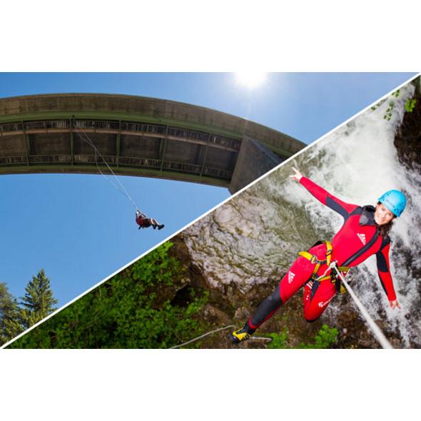 Canyoning & Mega Swing im Oetztal