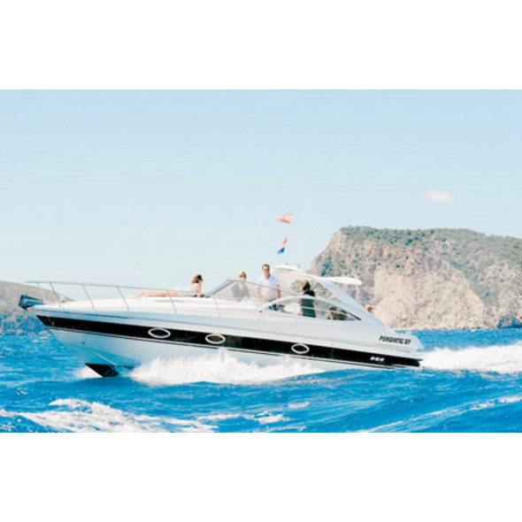 Motoryacht-Tagesausflug auf Ibiza für bis zu 9 Personen