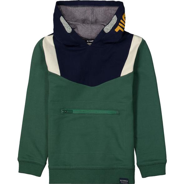Hoodie, Farbblöcke, Reißverschluss-Taschen, für Jungen
