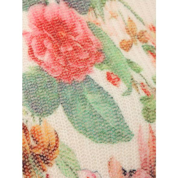 Strickpullover mit Blumenmuster