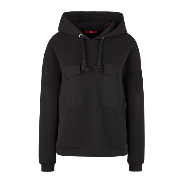 Fabricmix-Hoodie mit Brusttaschen - Hoodie