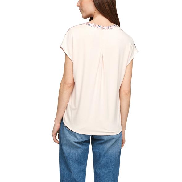 Blusenshirt mit Frontprint - Blusenshirt