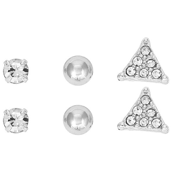 Ohrstecker-Set - Geometrical Silver