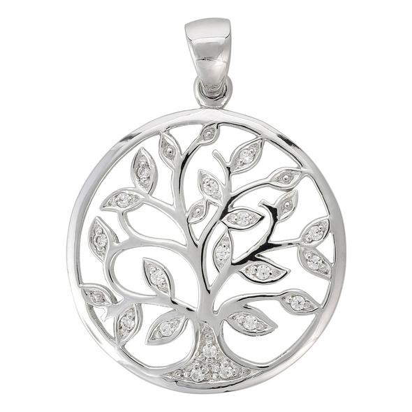 Anhänger - Zirkonia Tree