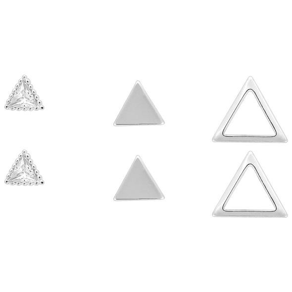 Ohrstecker - Silver Triangle Trio