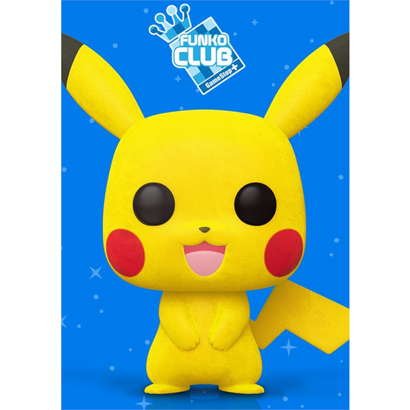 Pokémon  - POP!-Vinyl Figur Pikachu flocked (Funko Club exklusiv!)