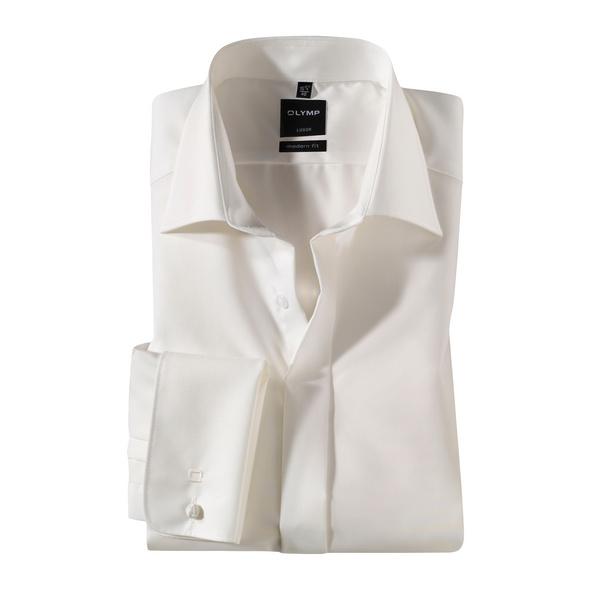OLYMP Luxor Soirée Hochzeitshemd, modern fit, Extra langer Arm