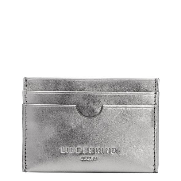 kleines Kartenetui aus Metallicleder - Metallic Ara