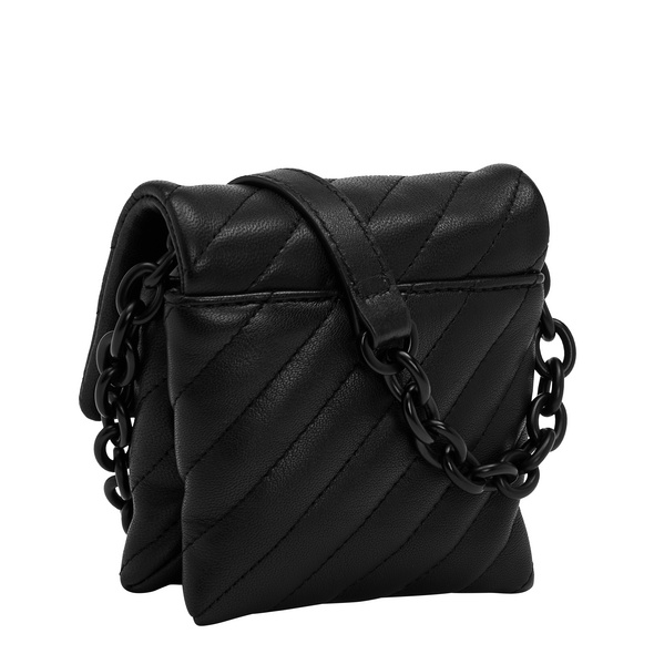 kastenförmige mini Tasche mit gestepptem Schafsleder - Nina Necklace Accessory