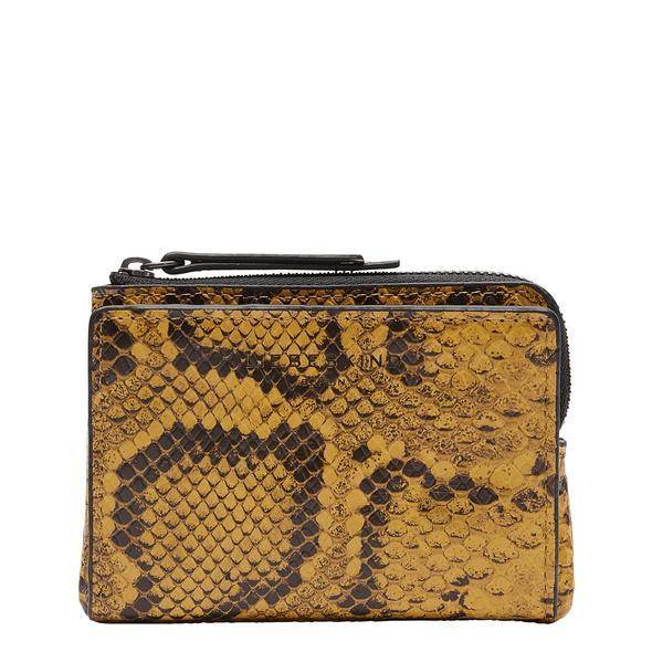 Geldbeutel aus Leder mit Schlangenhautprägung - Snake Smilla