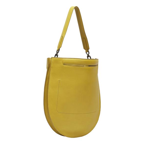 runde Tasche aus Leder - Otega Tote M