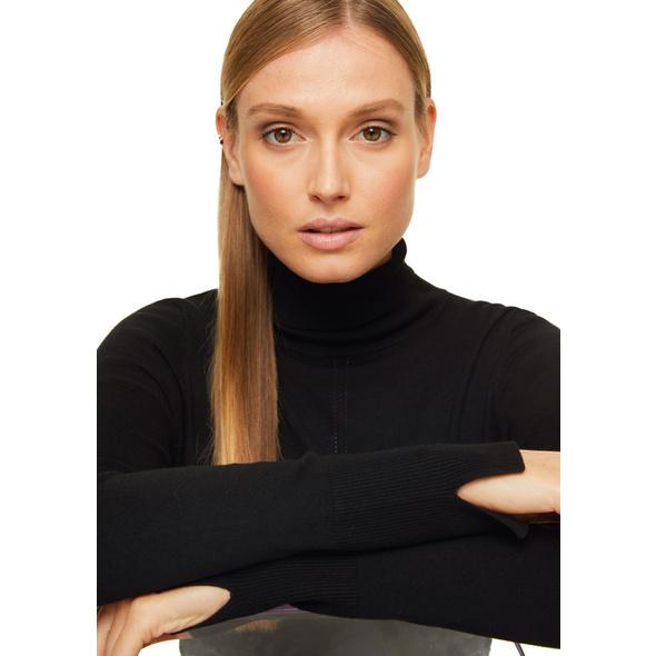 Turtleneck-Pullover mit Rollsaum - Feinstrickpullover