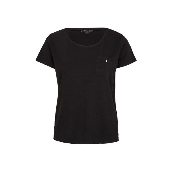 Jersey-Shirt mit Brusttasche - T-Shirt