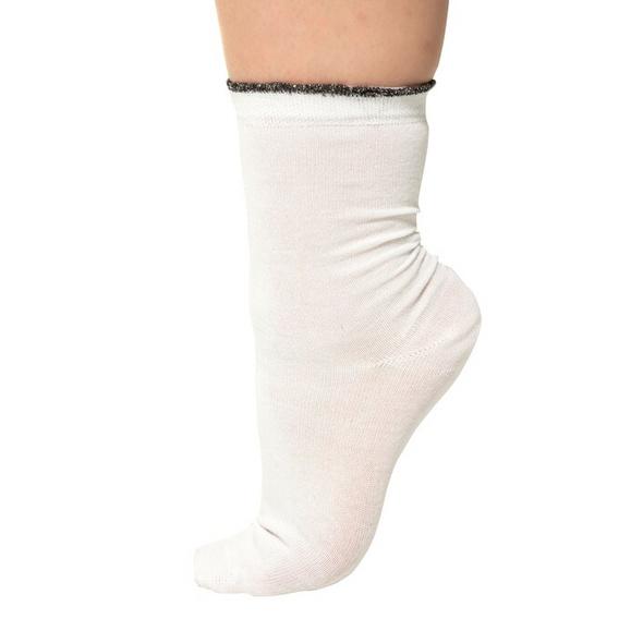 Socke, Glitzer-Rand 3er Pack