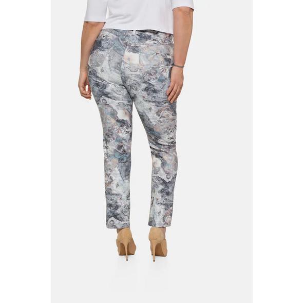 Hose Mandy, Marmor-Design, weites Bein, selection