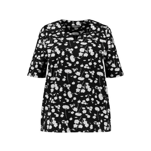 T-Shirt, Blütenmuster, Classic, Biobaumwolle