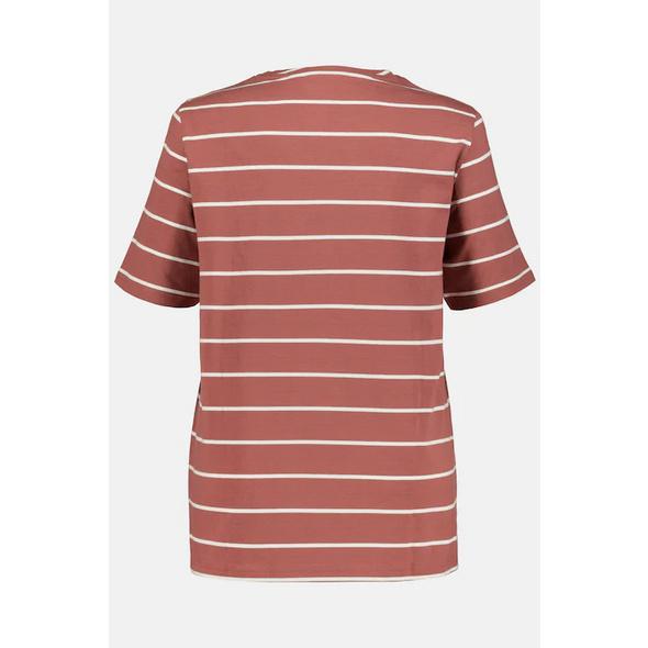 T-Shirt, Ringel, V-Ausschnitt, Halbarm, Biobaumwolle