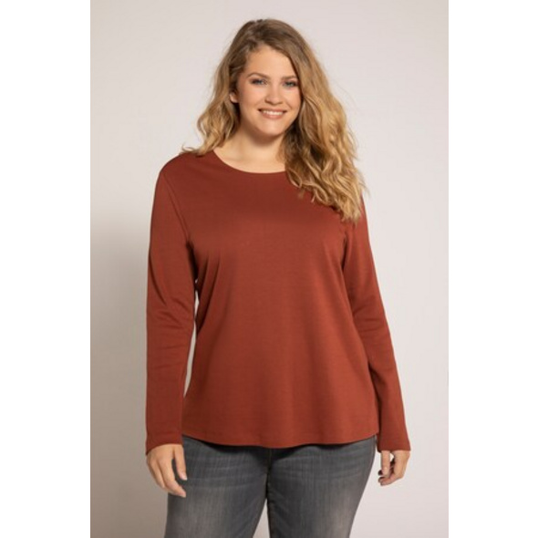 Ulla Popken Shirt, Langarm, schmale Passform - Große Größen