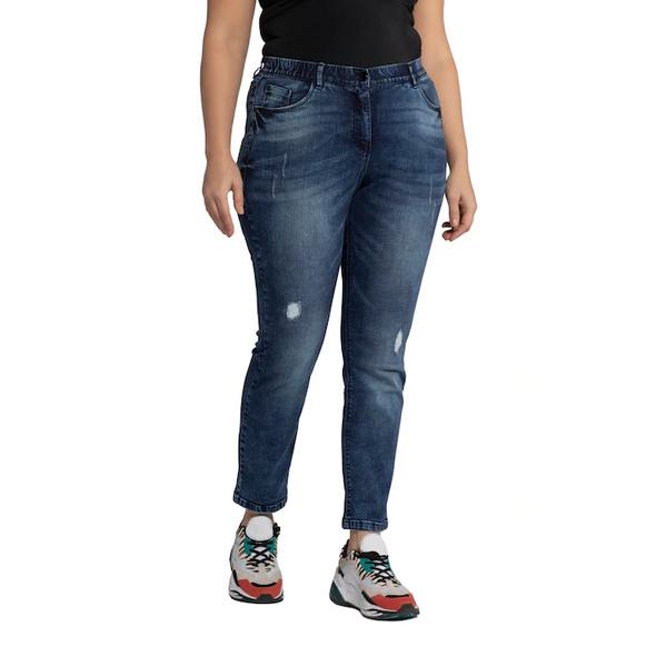 Jeans Sammy, konische 5-Pocket-Form, Destroy-Effekte