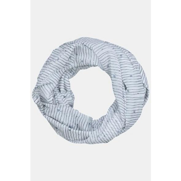 Ulla Popken Loop, Streifen, Blüten, feine Qualität - Große Größen