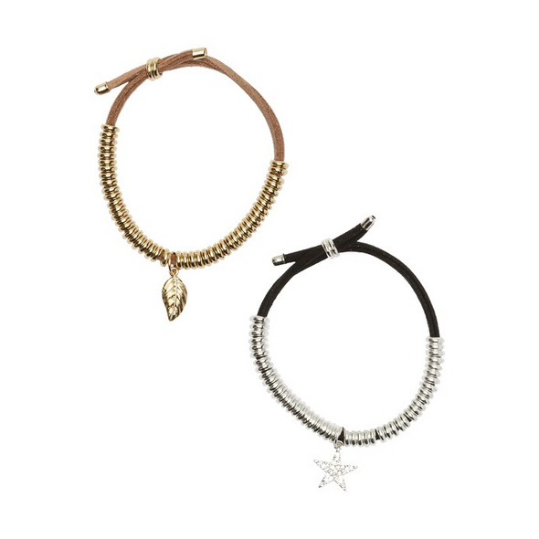 Armbänder, 2er-Set, schöne Verzierung, elastisch