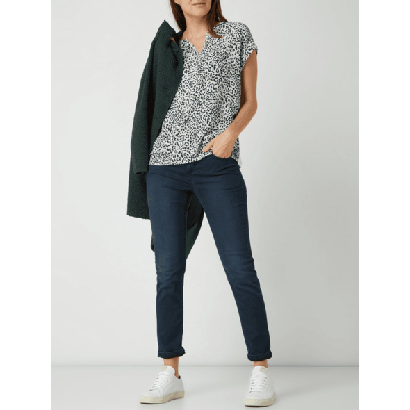 Blusenshirt mit Kontrastrückseite