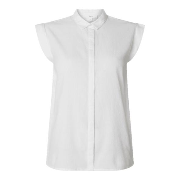 Bluse aus Baumwolle mit verdeckter Knopfleiste