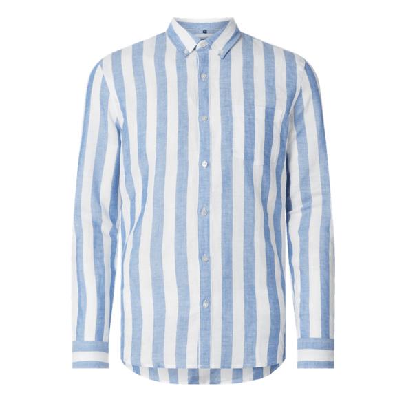 Slim Fit Freizeithemd mit Leinen-Anteil Modell 'Roman'