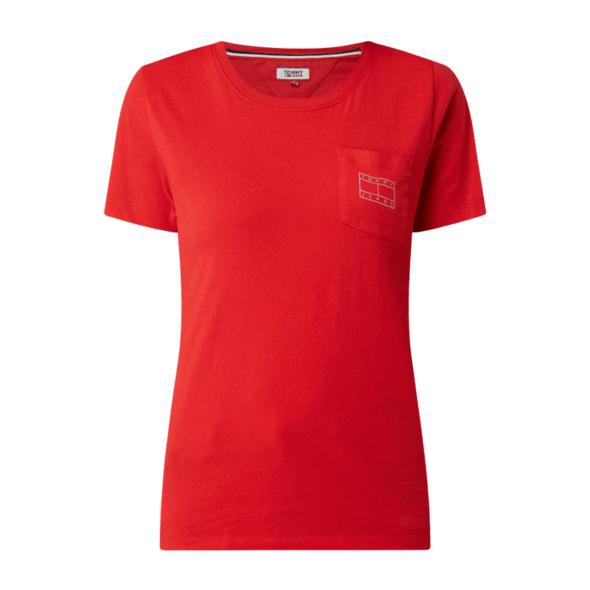 T-Shirt aus Baumwolle mit Brusttasche