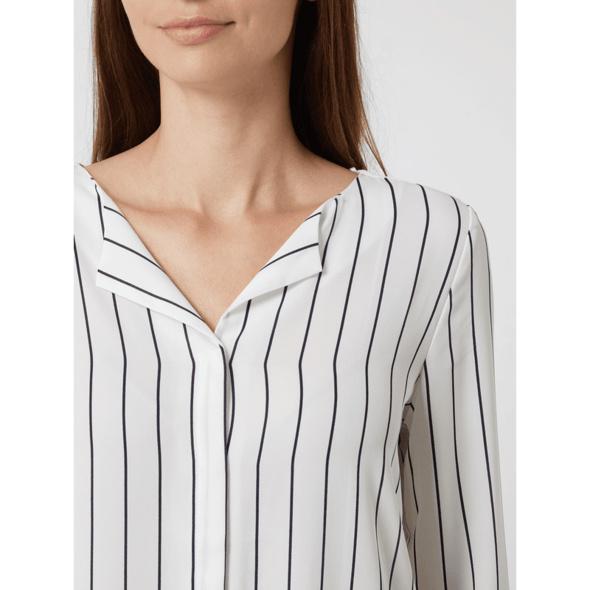 Bluse aus Chiffon mit verdeckter Knopfleiste