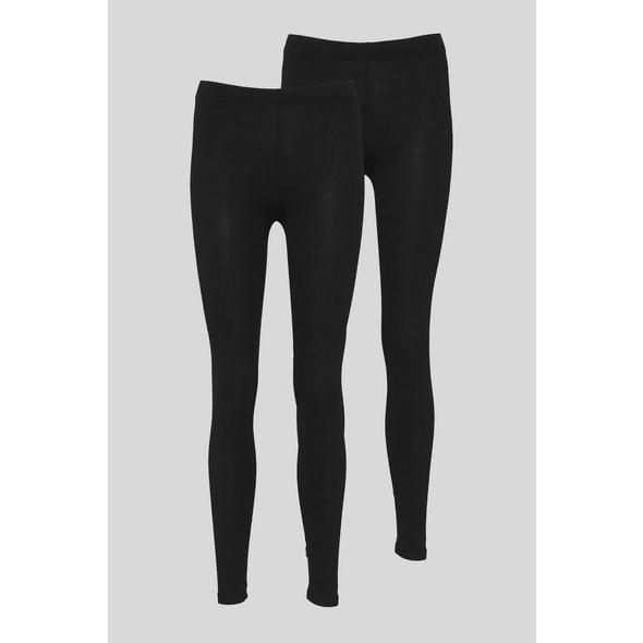 Basic-Leggings - Bio-Baumwolle - 2er Pack