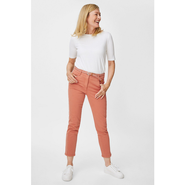 Hose mit Gürtel - Slim Fit