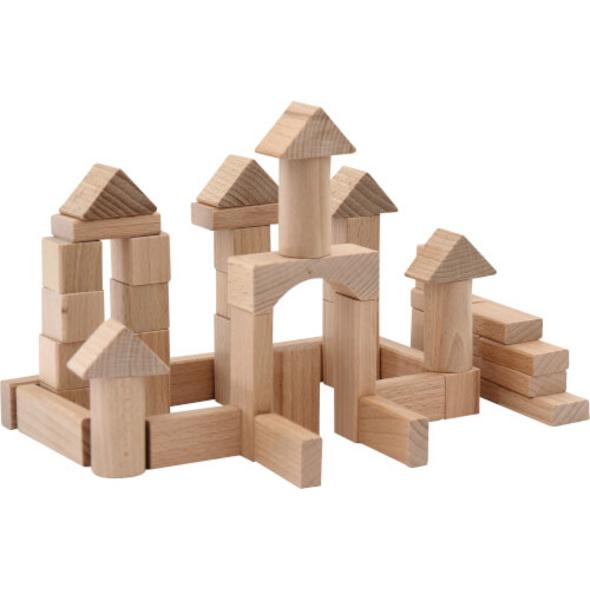 SpielMaus Holz Naturbausteine 100 Stück, 25 mm
