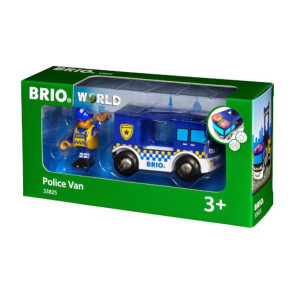 BRIO 63382500 Polizeiwagen m.Licht u.Sound