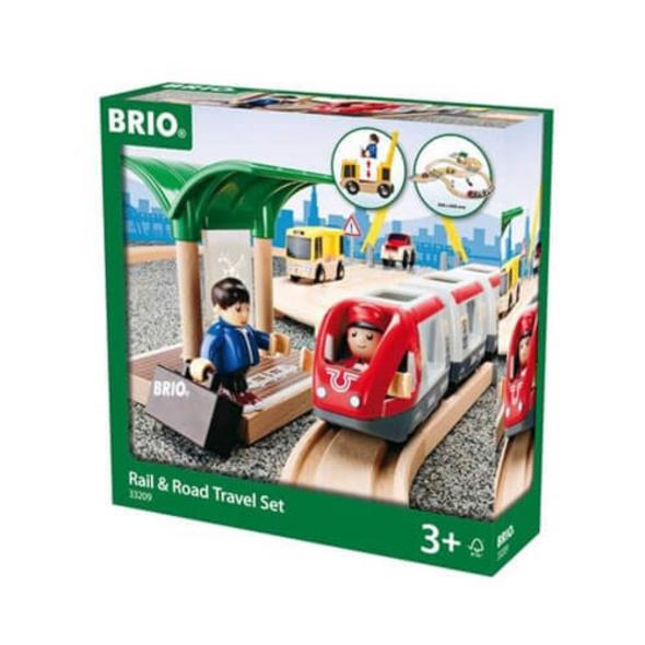 BRIO 63320900 Straßen und Schienen Reisezug Set