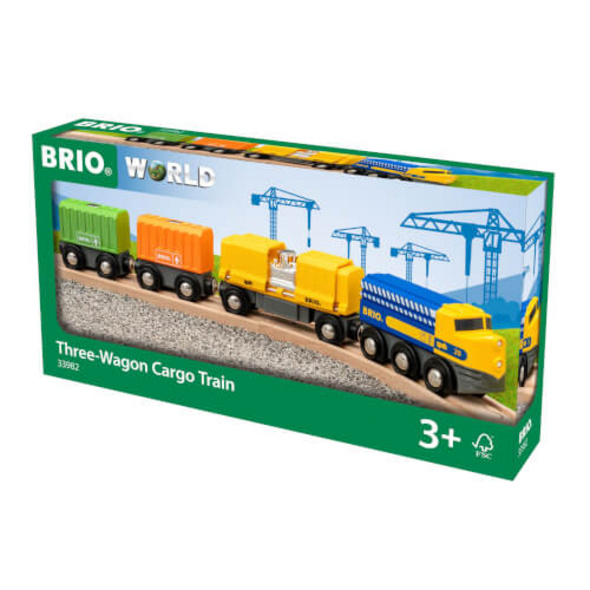 BRIO 63398200 Three-Wagon Cargo Train