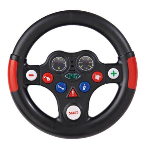 BIG Racing-Sound-Wheel, Kunststoff, ca. 19x19x11 cm, schwarz-rot, ab 12 Monate